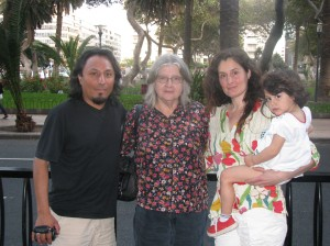 Luis Salazar and family with Birute at the end of a perfect day in the Canary Islands