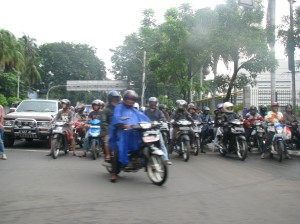 Jakarta's traffic is well-known for its hordes of motorcycles