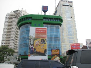 Interesting building in downtown Jakarta