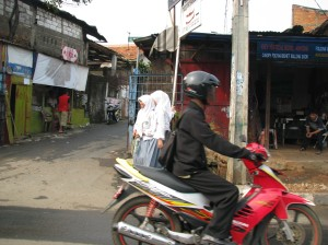 Typical entrance to typical Jakarta alley